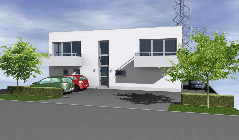 neubau 3 zimmer mit balkon im 3 parteienhaus in moderner architektur bornheim smilinghaus. Black Bedroom Furniture Sets. Home Design Ideas